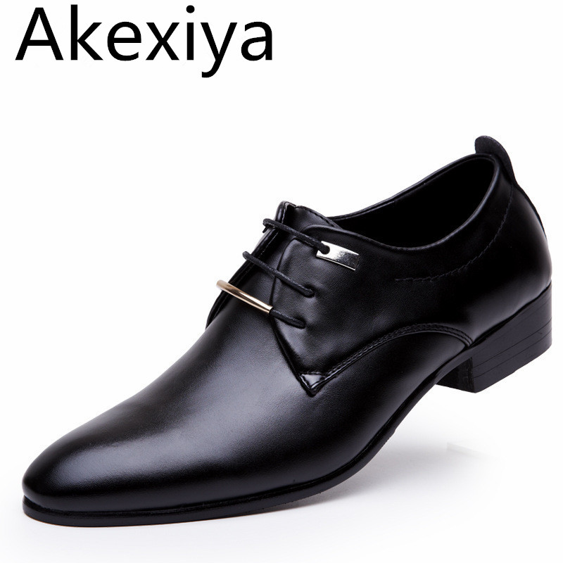 Akexiya 2017 New Men Flats Leather Shoes Pointed Oxford Flat Male Shoes Mens Luxury Brand WITH