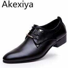Akexiya 2017 Nouveaux Hommes Appartements Chaussures En Cuir Pointu Oxford Plat Chaussures Hommes Chaussures Pour Hommes Marque De Luxe AVEC la BOÎTE Taille 38-46