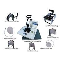 New Design 8 In 1 Sublimation/Heat Press,Heat Transfer Machine Combo Heat Press Machine, For Mug/Cap/T shirt/Phone cases