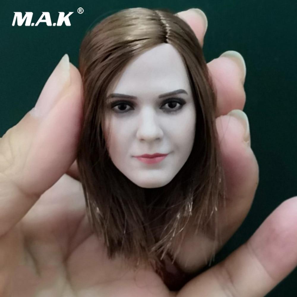 "Hermione Emma Watson 1//6 Female Head Carving Sculpt Model for 12/"" Action Figure"