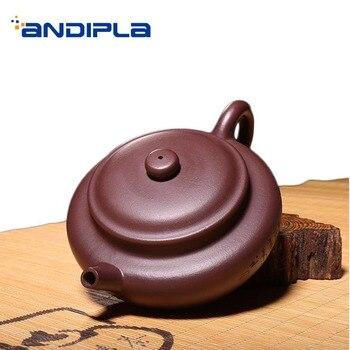 270ml Authentic Yixing Purple Clay Teapot Household Teaware Raw Ore Health Zi Mud Fang Gu Pot Puer Tea Kettles Birthday Gifts