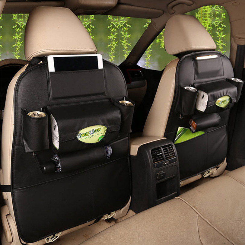 2017 Universal New Car Auto Leather Seat Back Multi Pocket Storage Bag Organizer Holder Hanger Car