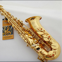 Saxphone Alto Salmer 802 Gold Plated Sax BE Saksafon Saxofone Musical Instruments Professional Saxofoon