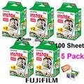 Original 100 hoja de papel fotográfico instantánea fujifilm fuji instax mini película en blanco para Instax Mini 8 70 25 Cámara SP-1 SP-2 + Regalo Libre
