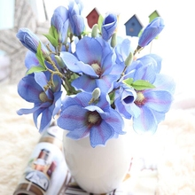 10 Pcs Artificial Simulation Silk Mini Magnolia Short Branch Flower Wedding