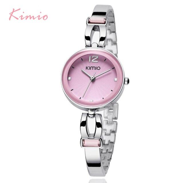 Kimio Top Brand Luxury Women Quartz Watch Ladies Stainless Steel Analog Bracelet