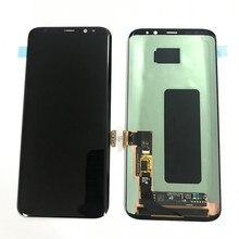 Orijinal süper Amoled Lcd için çerçeve ile Samsung Galaxy S8 G950 G950F S8 artı G955F dokunmatik ekran digitizer ekran servis paketi