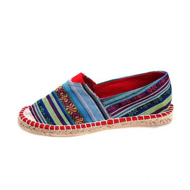 2016 new fashion trend lazy shoes women shoes comfortable breathable Ethnic hand-woven linen cloth shoes w690