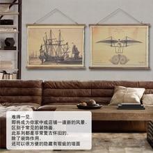 Vintage hemp elizabethans globe picture frame fabric painting paintings muons wall decoration murals big decor