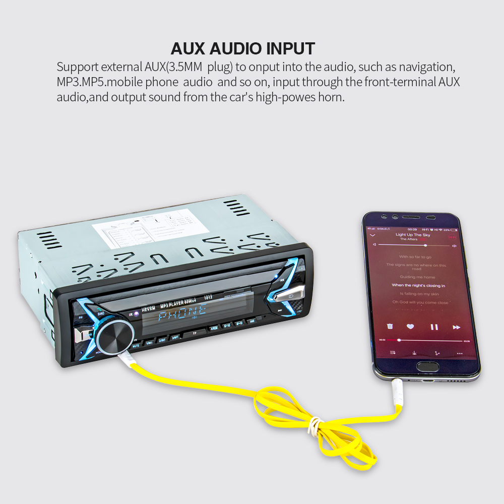 Image 4 - 1012 Wireless Car Kit Multifunction Bluetooth Vehicle MP3 Player U Disk player 3.5mm AUX FM Radio Audio Adapter Car charger-in Car MP3 Players from Automobiles & Motorcycles