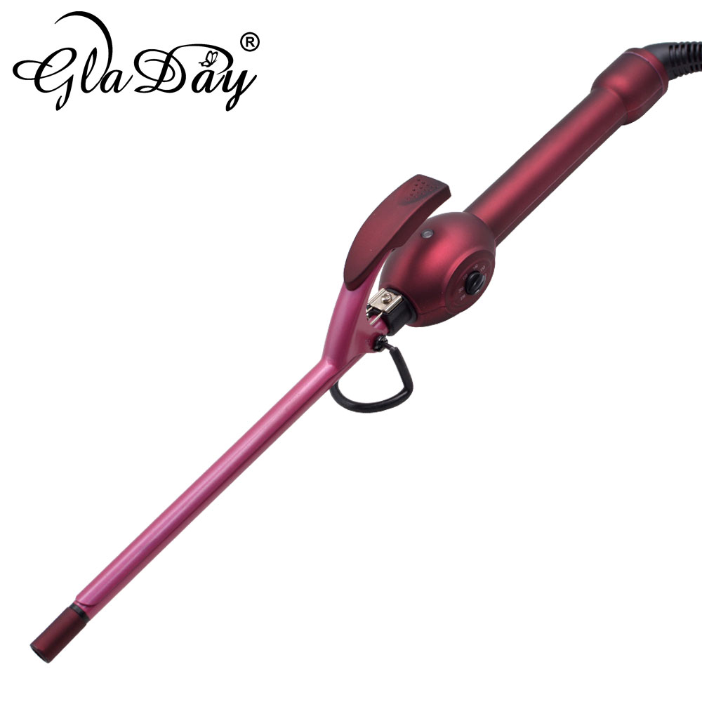 9mm Hair Curling Iron Wand Hair Curler Men's Wave Curler Deepwave Small Hair Curlers Fluffy Curly Rulos Krultang Styling Tools