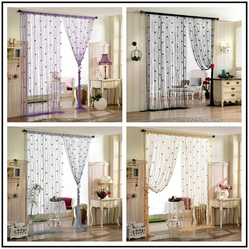 100x200cm 8 Colors String Curtain With Rose Flower Decor Tassels Fly Insect  Door Screen Divider Window Panel Room Divider In Curtains From Home U0026  Garden On ...