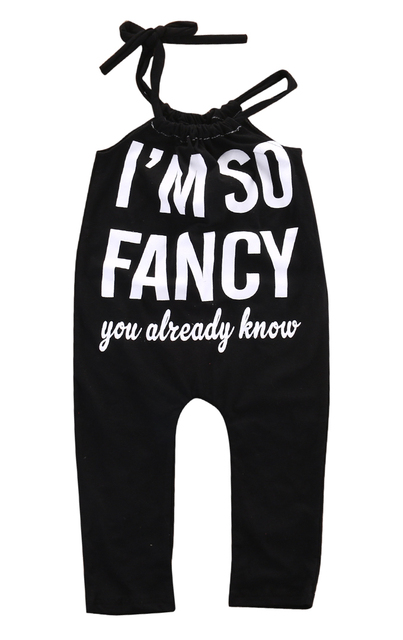 409e21f83ba I M so Fancy Newborn Baby Girls Sleeveless Spaghetti straps Romper Jumpsuit  Outfits Clothes 0