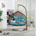 Sillas muebles de mimbre hamaca con cojines