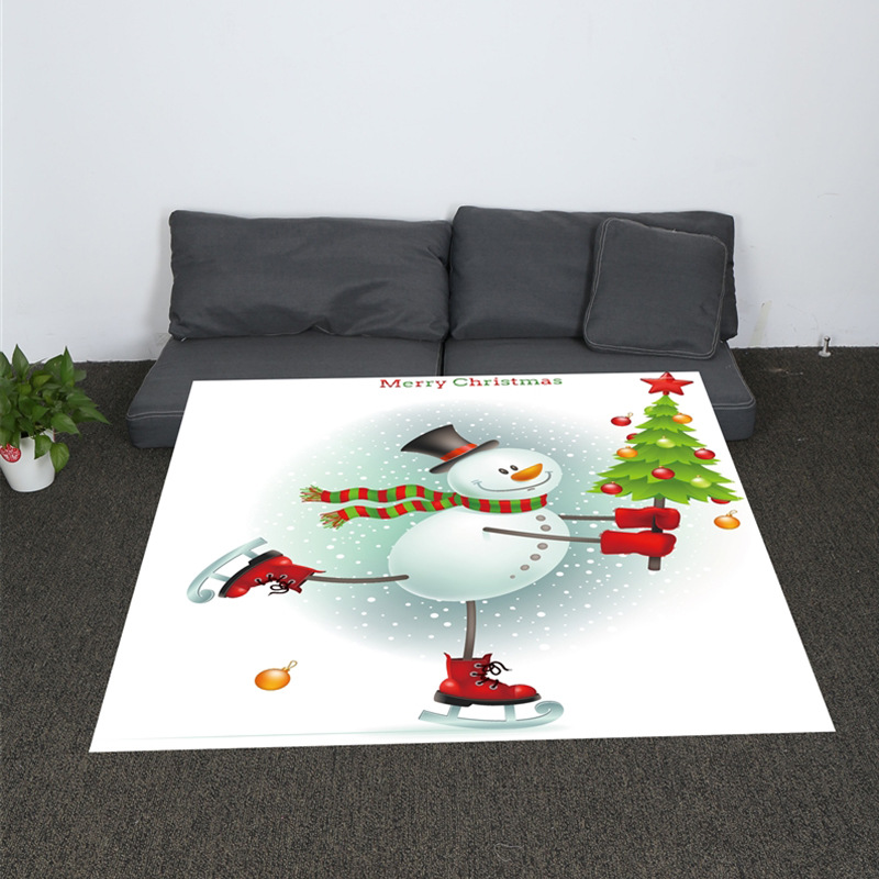 Christmas Eve Santa Elk and Snowman Youth Cartoon Plush Throw Blanket on Sofa Bed for Kids Bedding Sherpa Blanket in Blankets from Home Garden