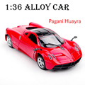 1:36 Mini Alloy Pagani Huayra Car Scale 1/36 Diecast Car Model With Light&Sound Car Model Toys Brinquedos For Kids Birthday Gift