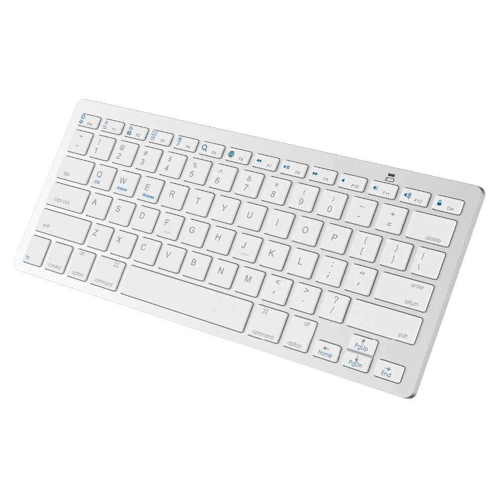 Kemile Grosir Profesional Ultra-Slim Wireless Keyboard Bluetooth 3.0 Keyboard Teclado untuk Apple untuk iPad Seri Sistem IOS