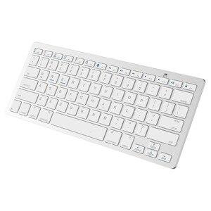Image 1 - Kemile оптовая продажа профессиональная ультратонкая Беспроводная клавиатура Bluetooth 3,0 клавиатура Teclado для Apple для iPad серии iOS