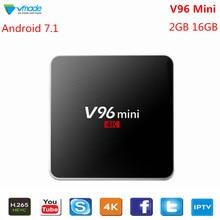 Vmade V96 Mini IPTV Set-Top Box Android 7.1 Smart Mini TV Box 2GB 16GB Allwinner H3 Quad Core 2.4G WIFI Google TV Media Player стоимость