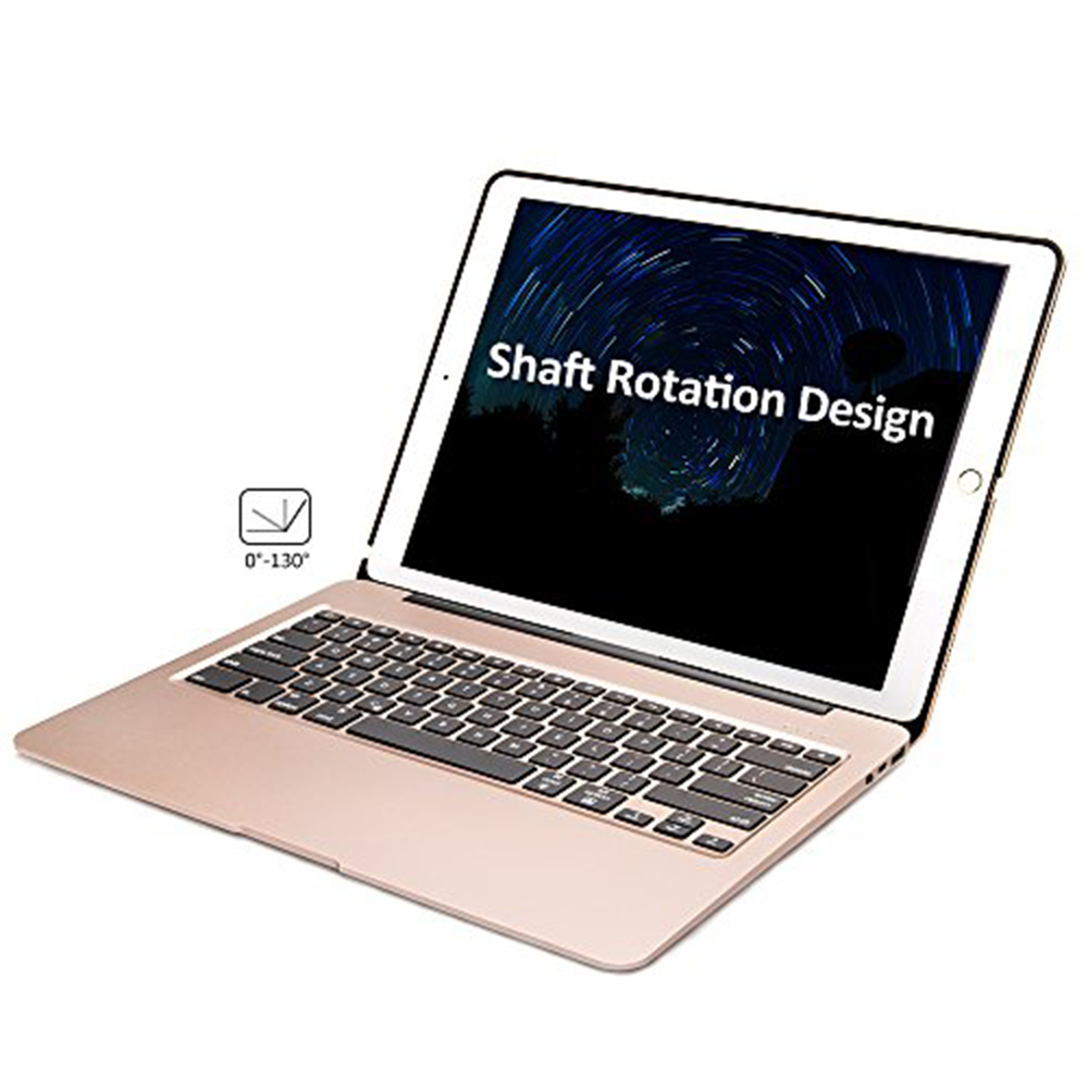 Aluminum Bluetooth Keyboard Case for iPad Pro 12.9 Model A1584/A1652/A1670/A1671 Slim Protective Cover with 7 Colors Backlit - 4