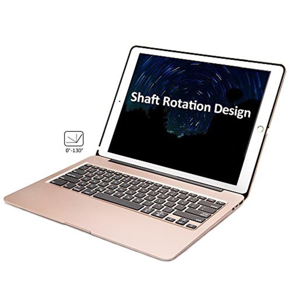 Алюминиевая Bluetooth клавиатура для iPad Pro 12,9 модель A1584/A1652/A1670/A1671 тонкий Защитная крышка с 7 цветов светодиодной подсветкой - 4