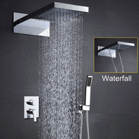 Ванная комната набор для душа настенных душем набор дождь Душ водопад душевые Массажная душ Панель современные краны накладные Ванна