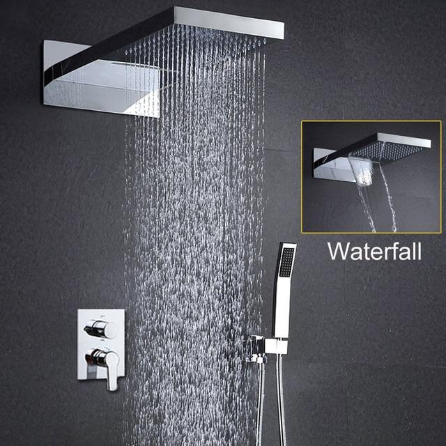 Bad Dusche Set Wand Montiert Dusche kopf Set Regen Douche Wasserfall ...