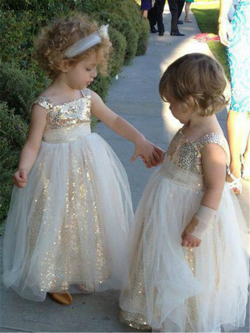 2-14 Ankle-Length Kids Sequin   Flower     Girls     Dress   Kids Pageant Party Wedding Ball Gown Prom Princess Formal Occassion   Girls     Dress