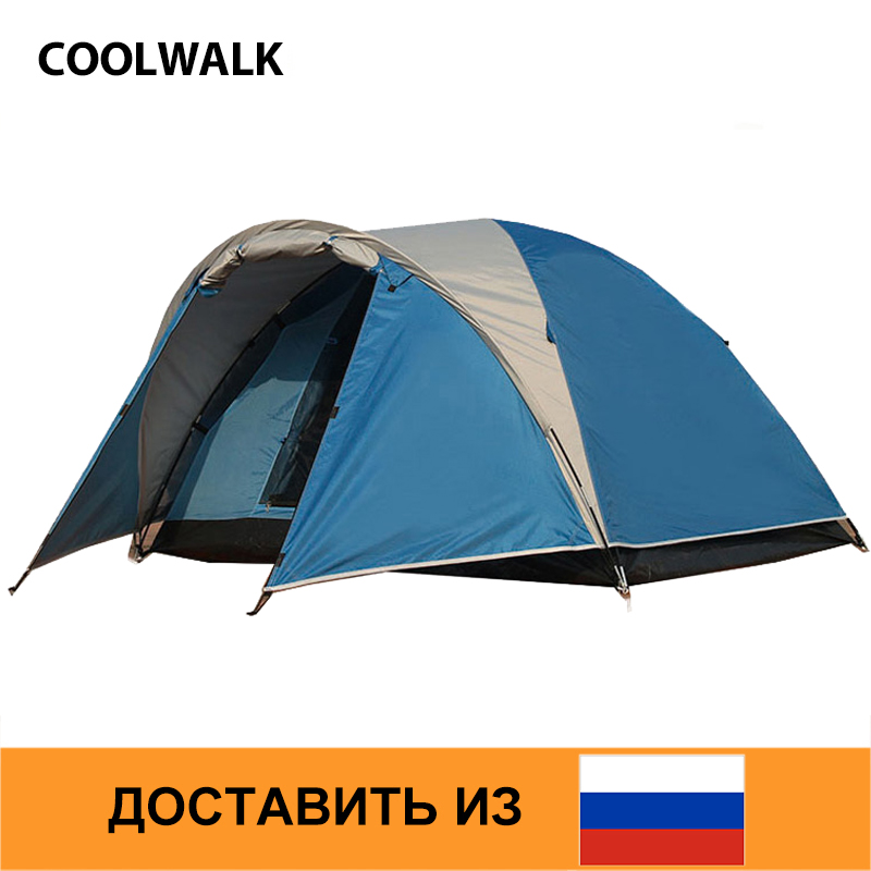Здесь продается  Ship From RU Camping Tent Beach Hiking Outdoor Tent  Tourist Travel Dome Couple Tent 1 Room and 1 Living Room   Спорт и развлечения