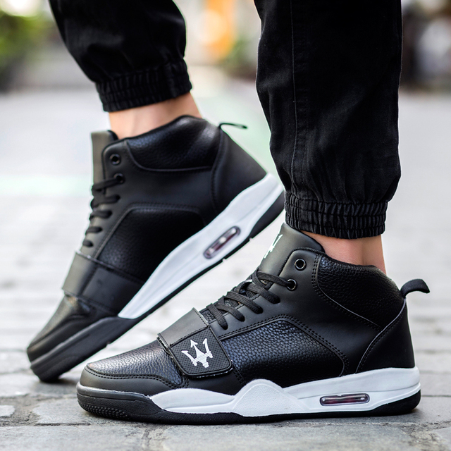914b37ce85d0 2016 New Men s Fashion Casual Shoes Male Breathable Air Sole Spring Autumn  Top Classic Mid Cut Shoes