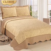 CLORIS Warm Comfortable Thick Bedspreads On The Bed 220 * 240cm Satin Bed Linen Plaid Bedspreads Duvet Cover King Size Flowers