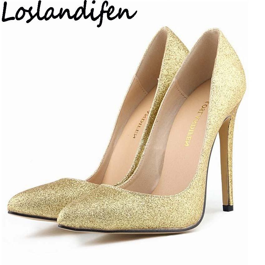 Womens Ladies Wedding Bridesmaid Glitter High Heel Stiletto Sandals Shoes Size