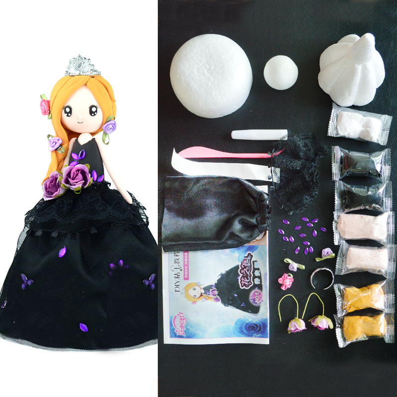 Slime Doll Set DIY Colorful Clay Western Style Doll With Dress And Clay Handwork Plasticine New Arrival Slime Supplies DOLLRYGA