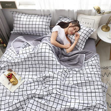 Brief Lattice Printing Cotton Summer Air Conditioner Cool Thin Quilt Washed Comfortable Home Textile Bedding Comforters Duvets(China)