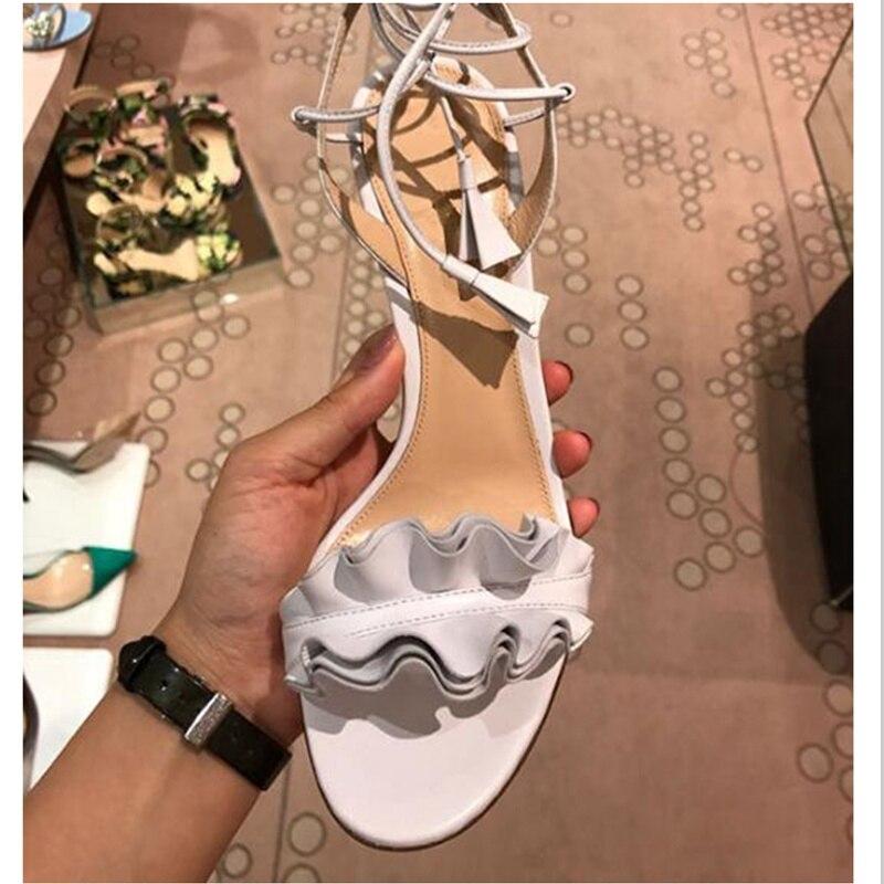 Feminino De Piste Sandales Ruches Stiletto Papillon Sapato Mariage Chaussures Talon Pic As Décor Toe as Lacent Mince Femmes Parti Haute Peep Noeud Pic aqOndw