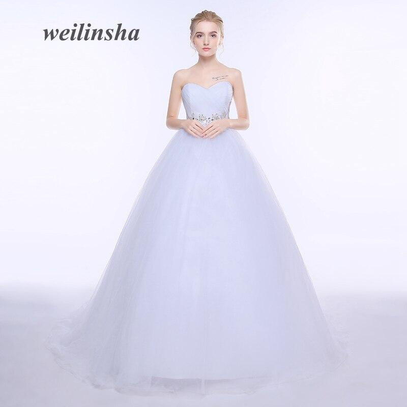 Weilinsha Romántica Vestidos de Novia Sin Tirantes de Tul Venta ...
