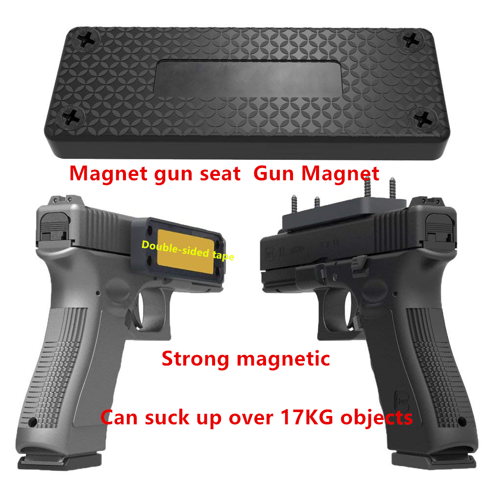 Pistol rifle Hunting Concealed Magnetic Gun Holder Holster Gun Magnet for Car Under Table Bedside frame