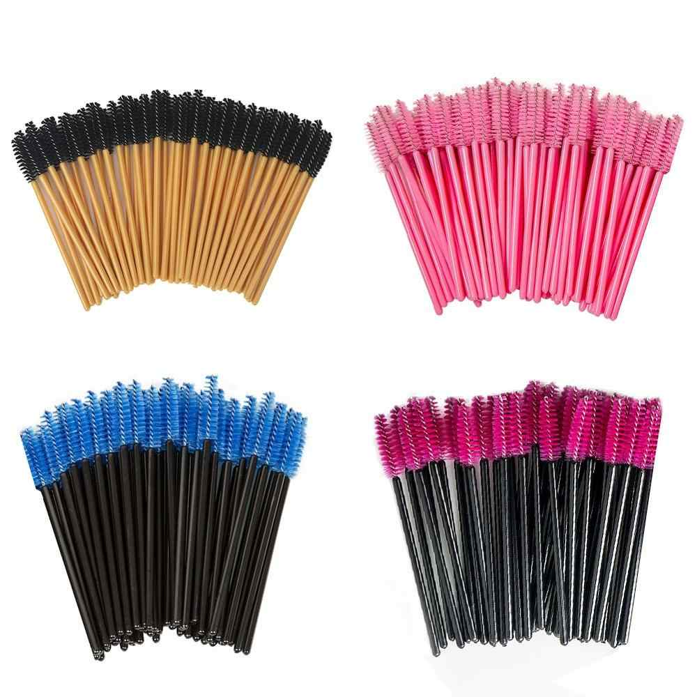 50Pcs Wimper Borstels Make-Up Kwasten Wegwerp Mascara Wands Applicator Veelkleurige Wimpers Cosmetische Borstel Make-Up Tools