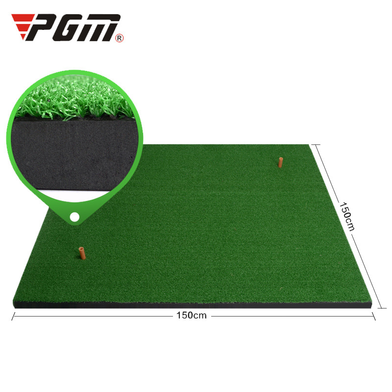 Crestgolf 1.5M*1.5M Golf Mats Practice Hitting Mat Golf Swing Trainer Training Turf Mat with Rubber Tee Holder