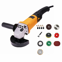 220v multi-functional electric angle grinder 6 level speed adjustment long handle combo 4 cutting polishing sanding grinding wax