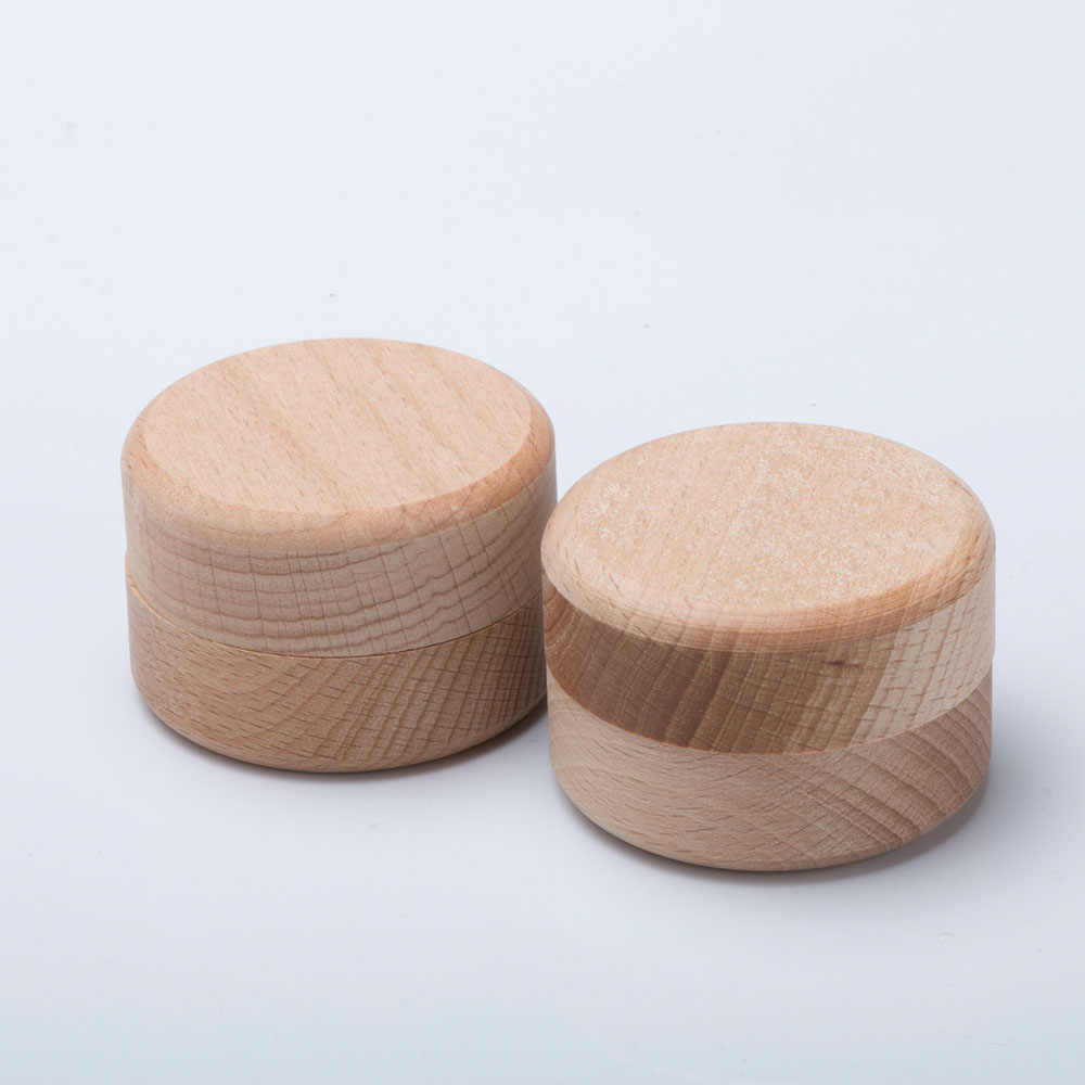 1pc Portable Vintage Round Wooden Jewelry Storage Box Ring Earrings Container Storage Case Hot Sale