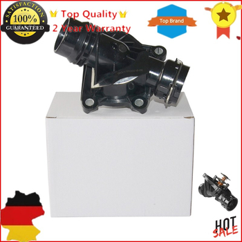 AP03 11517787113 Thermostat With Housing For BMW X3 X5 X6 E81 E46 E90 E91 E92 E93 E60 E61 E63 E64 E65 E66 E67 E83 E70 E71 E72 image