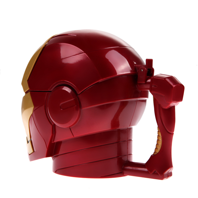 Kitchen Accessories Iron Man 3D Water Cup Black Eyes ABS Plastic High Quality Kitchen Drinkware Mugs for Kids Birthday Gift 4
