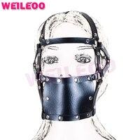 Расширение маски перфорированные открытый рот кляп мяч взрослые секс игрушки бдсм связывание набор фетиш раб bdsm секс игрушки для пар взрос...