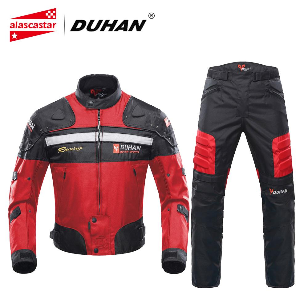 DUHAN Motorcycle Jackets Men Motocross Racing Jacket Motorcycle Protection Chaqueta Moto Jacket Riding Windproof Protective Gear