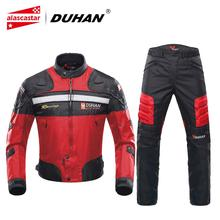 DUHAN Motorcycle Jackets Men Motocross Racing Jacket Motorcycle Protection Chaqueta Moto Jacket Riding Windproof Protective Gear motorcycle jacket duhan autumn winter windproof cold proof men motocross equipment gear cotton motorbike protective jacket
