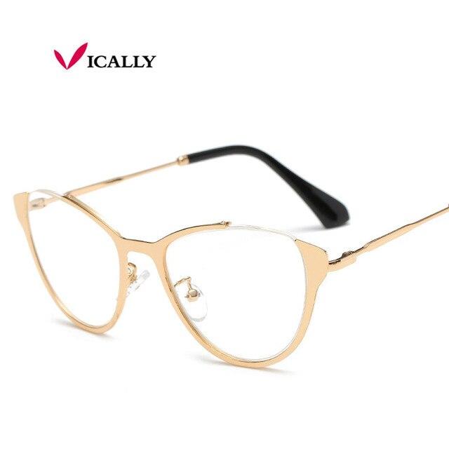 2de6f1242a Brand Designer Cat s Eye Glasses Fashion Women Half Frame Cat Eye Glasses  Women Eyeglasses Frames High quality oculos de Grau