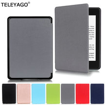 For All-New Amazon Kindle Paperwhite 4(10th Generation,2018 release) Case Premium Slim Flip Smart Leather Protective Cover Shell stylish protective pu leather flip open carrying case w buckle for amazon kindle 4 black