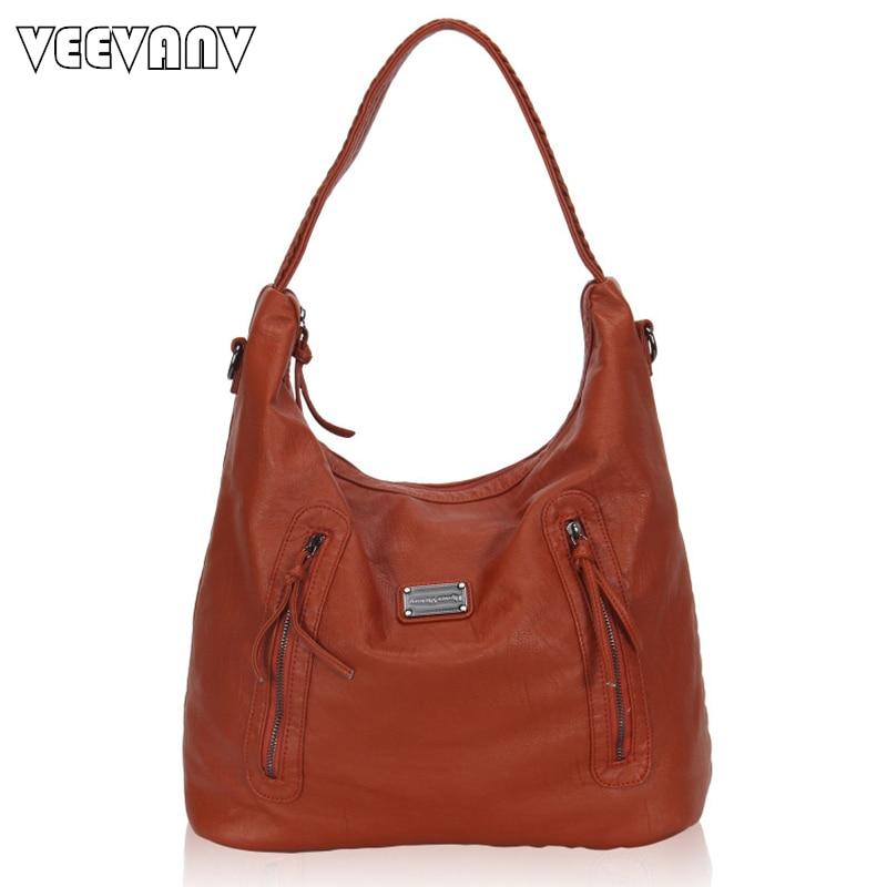 2017 VEEVANV Women Handbags High Quality Leather Shoulder Bag Ladies Tote Handbag Fashion Messenger Bag New Crossbody Bag Female