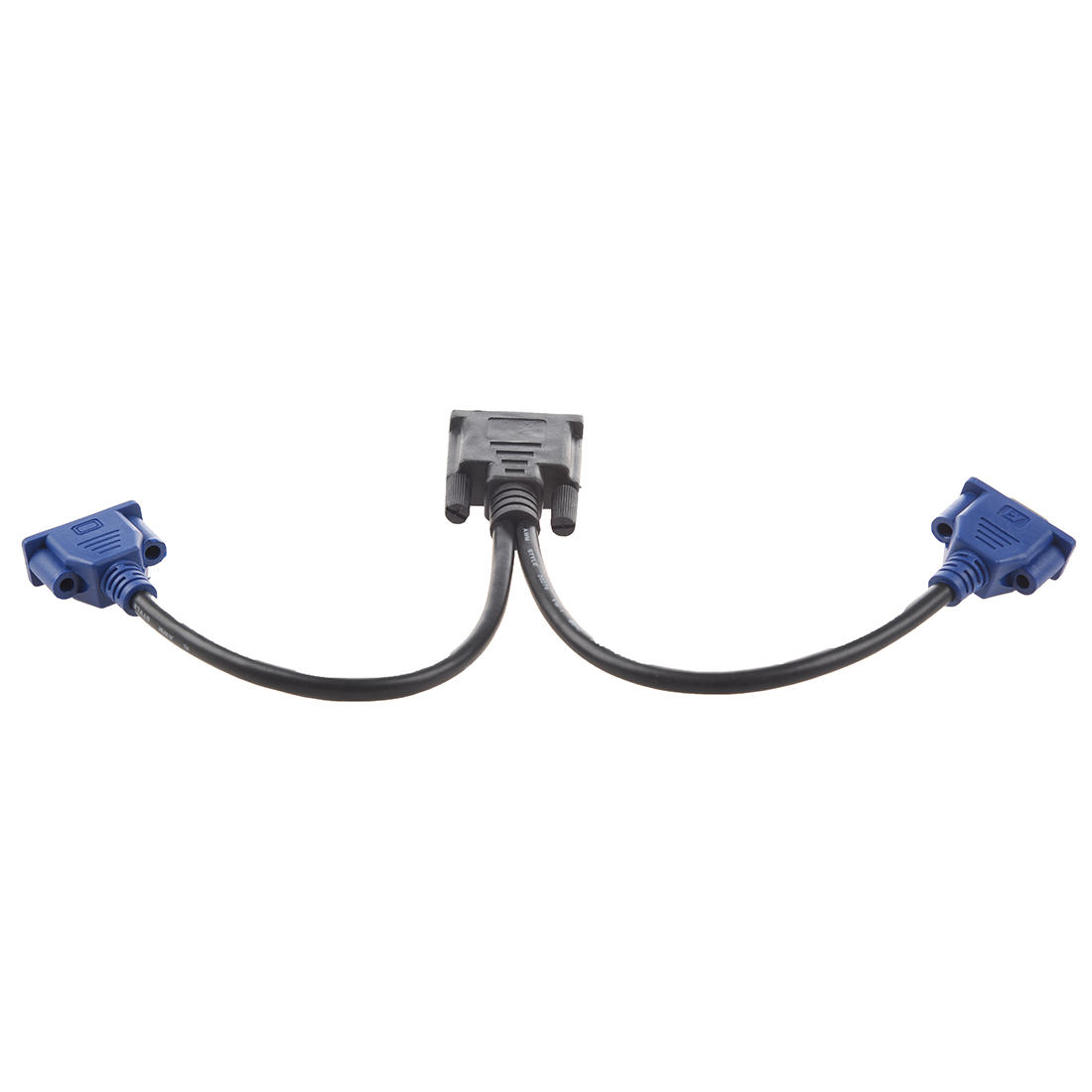 DVI-I to Dual VGA Female Video Cable Adapter